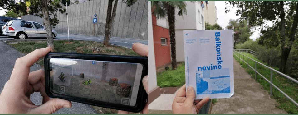 Predstavljanje prvog broja fanzina Balkonske novine, aplikacije Urban AR i mini zelene knjižnice