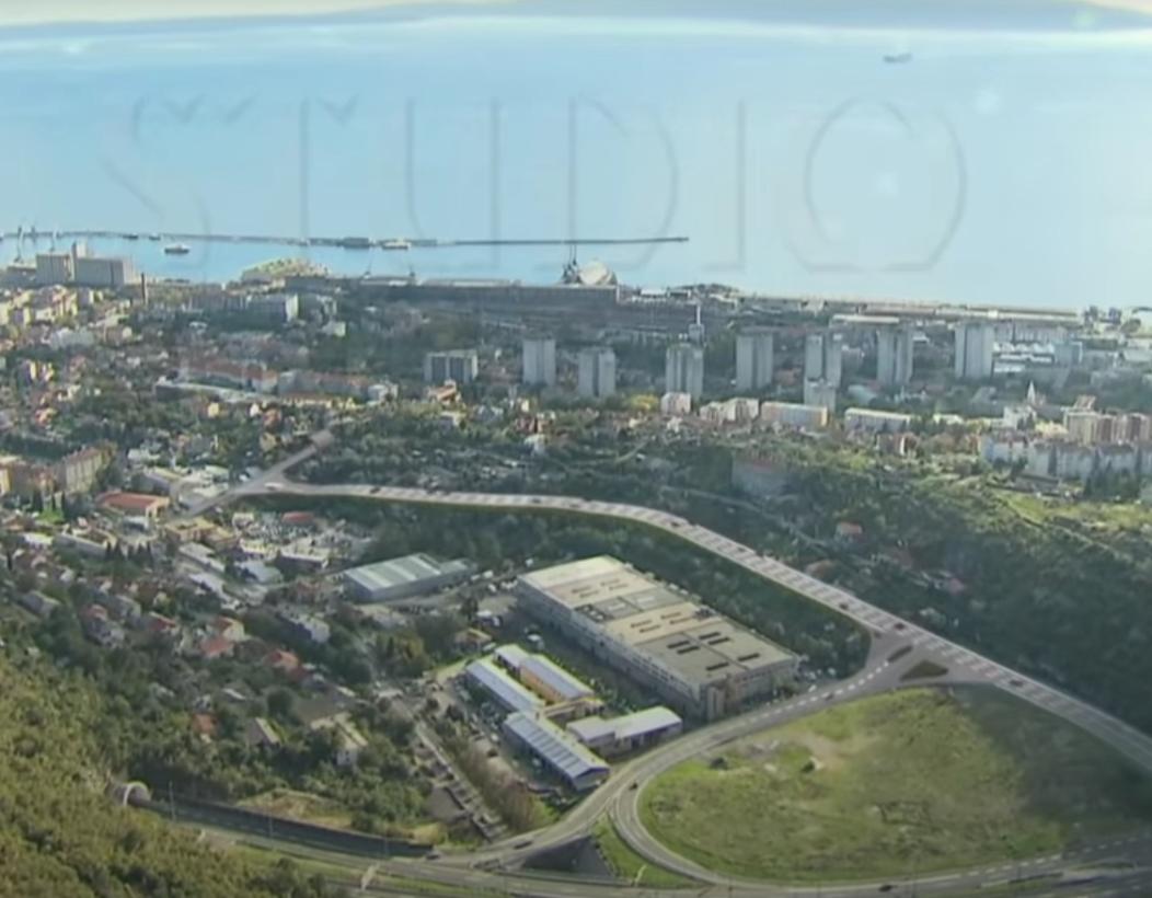 Pogled s balkona: nastaje škurinjski dio gradilišta ceste D-403, jedne od najvažnijih prometnica u Hrvatskoj